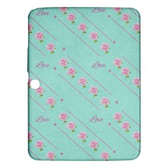 Flower Pink Love Background Texture Samsung Galaxy Tab 3 (10 1 ) P5200 Hardshell Case