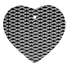 Expanded Metal Facade Background Ornament (heart)