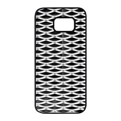 Expanded Metal Facade Background Samsung Galaxy S7 Edge Black Seamless Case by Nexatart