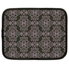 Line Geometry Pattern Geometric Netbook Case (xxl)  by Nexatart