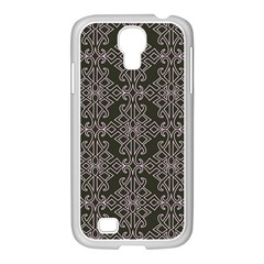 Line Geometry Pattern Geometric Samsung Galaxy S4 I9500/ I9505 Case (white) by Nexatart