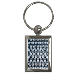 Texture Pattern Metal Key Chains (rectangle)