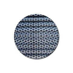 Texture Pattern Metal Rubber Coaster (round)  by Nexatart