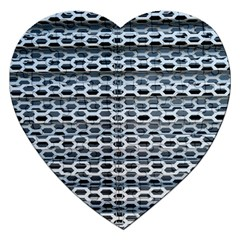 Texture Pattern Metal Jigsaw Puzzle (heart) by Nexatart