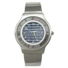Texture Pattern Metal Stainless Steel Watch