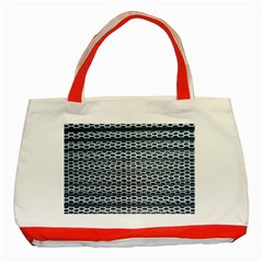 Texture Pattern Metal Classic Tote Bag (red) by Nexatart