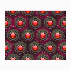 Abstract Circle Gem Pattern Small Glasses Cloth