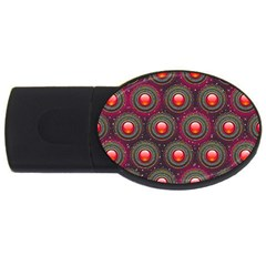 Abstract Circle Gem Pattern Usb Flash Drive Oval (4 Gb) by Nexatart