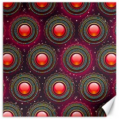 Abstract Circle Gem Pattern Canvas 12  X 12   by Nexatart