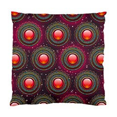 Abstract Circle Gem Pattern Standard Cushion Case (one Side)