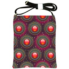 Abstract Circle Gem Pattern Shoulder Sling Bags by Nexatart