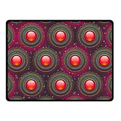 Abstract Circle Gem Pattern Fleece Blanket (small) by Nexatart
