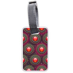 Abstract Circle Gem Pattern Luggage Tags (two Sides) by Nexatart