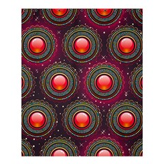 Abstract Circle Gem Pattern Shower Curtain 60  X 72  (medium)  by Nexatart