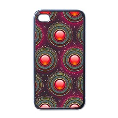 Abstract Circle Gem Pattern Apple Iphone 4 Case (black) by Nexatart