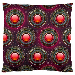 Abstract Circle Gem Pattern Large Cushion Case (two Sides) by Nexatart