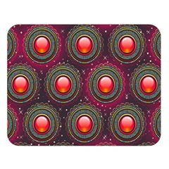 Abstract Circle Gem Pattern Double Sided Flano Blanket (large)  by Nexatart