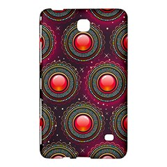 Abstract Circle Gem Pattern Samsung Galaxy Tab 4 (7 ) Hardshell Case  by Nexatart
