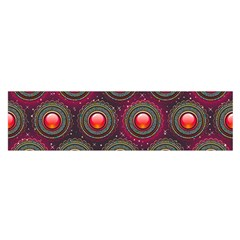 Abstract Circle Gem Pattern Satin Scarf (oblong) by Nexatart