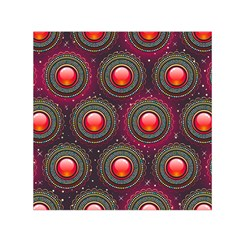 Abstract Circle Gem Pattern Small Satin Scarf (square) by Nexatart