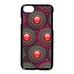 Abstract Circle Gem Pattern Apple Iphone 7 Seamless Case (black) by Nexatart
