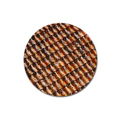Dirty Pattern Roof Texture Magnet 3  (round)
