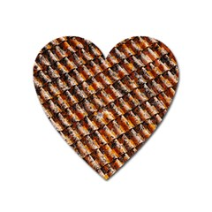 Dirty Pattern Roof Texture Heart Magnet
