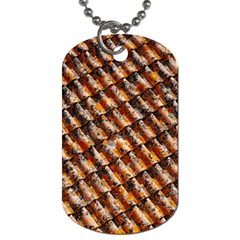 Dirty Pattern Roof Texture Dog Tag (two Sides)