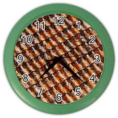 Dirty Pattern Roof Texture Color Wall Clocks