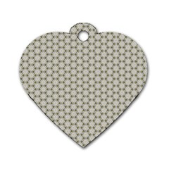 Background Website Pattern Soft Dog Tag Heart (one Side) by Nexatart