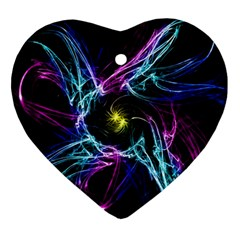 Abstract Art Color Design Lines Ornament (heart) by Nexatart
