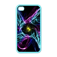 Abstract Art Color Design Lines Apple Iphone 4 Case (color)