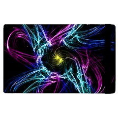 Abstract Art Color Design Lines Apple Ipad 2 Flip Case by Nexatart