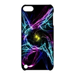 Abstract Art Color Design Lines Apple Ipod Touch 5 Hardshell Case With Stand by Nexatart