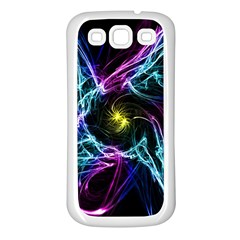 Abstract Art Color Design Lines Samsung Galaxy S3 Back Case (white)