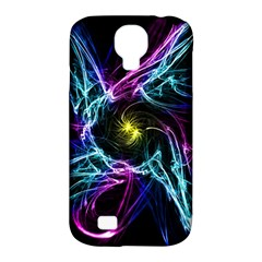 Abstract Art Color Design Lines Samsung Galaxy S4 Classic Hardshell Case (pc+silicone) by Nexatart