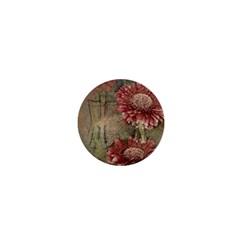 Flowers Plant Red Drawing Art 1  Mini Buttons