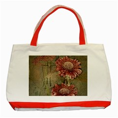 Flowers Plant Red Drawing Art Classic Tote Bag (red) by Nexatart