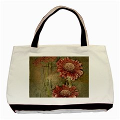Flowers Plant Red Drawing Art Basic Tote Bag (two Sides)