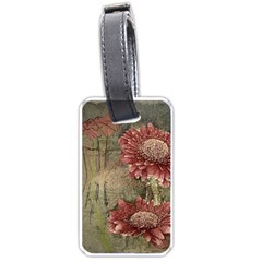 Flowers Plant Red Drawing Art Luggage Tags (two Sides) by Nexatart