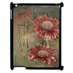 Flowers Plant Red Drawing Art Apple Ipad 2 Case (black) by Nexatart