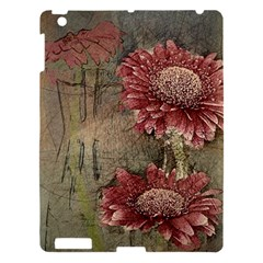 Flowers Plant Red Drawing Art Apple Ipad 3/4 Hardshell Case by Nexatart