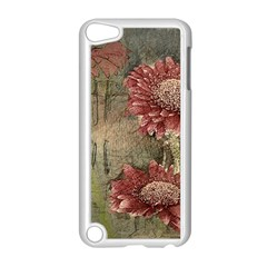 Flowers Plant Red Drawing Art Apple Ipod Touch 5 Case (white) by Nexatart