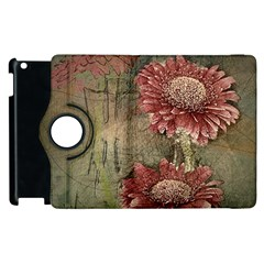 Flowers Plant Red Drawing Art Apple Ipad 2 Flip 360 Case
