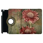 Flowers Plant Red Drawing Art Apple iPad 2 Flip 360 Case Front