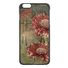Flowers Plant Red Drawing Art Apple Iphone 6 Plus/6s Plus Black Enamel Case by Nexatart