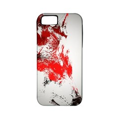 Red Black Wolf Stamp Background Apple Iphone 5 Classic Hardshell Case (pc+silicone) by Nexatart