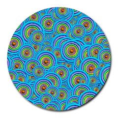 Digital Art Circle About Colorful Round Mousepads by Nexatart