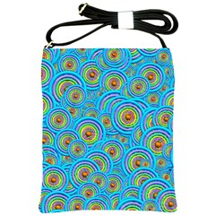 Digital Art Circle About Colorful Shoulder Sling Bags by Nexatart