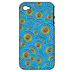 Digital Art Circle About Colorful Apple Iphone 4/4s Hardshell Case (pc+silicone) by Nexatart